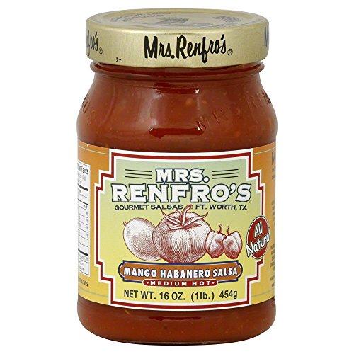 (Renfro Fine Foods Salsa, Mango Habanero, 16-Ounce (Pack of)