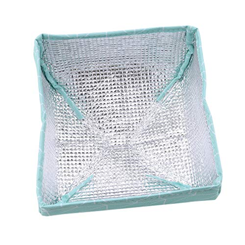 EH-LIFE Food Cover Keep Warm Foldable Aluminum Foil Vegetable Cover Dishes Kitchen Dust-proof Insulation Cover Small Blue Rectangle 1# by EH-LIFE (Image #3)