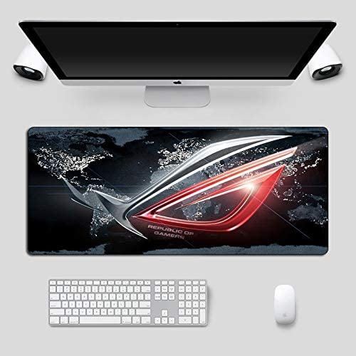 BMWY Mouse Pad Large Mousepad Non-Skid Rubber Republic of Gamers Gaming Mouse Pad Laptop Notebook Desk Mat for Keyboard Pad Color : 90x40cm