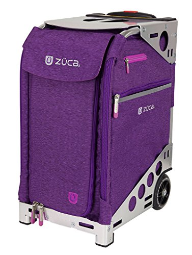 Zuca Pro Travel Heather Bag - Plum Insert and Silver Frame by ZUCA