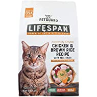 PetGuard LifeSpan Chicken, Brown Rice Recipe with Vegetables, Superior Cat and Kitten Food Food, 10-lb Bag