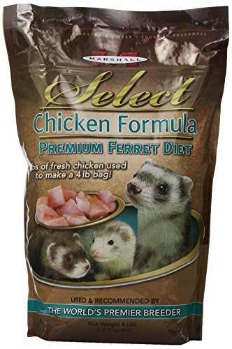 Marshall Pet Marshall Select Chicken Ferret Diet, 4-Pound Bag - Premium Ferret Food