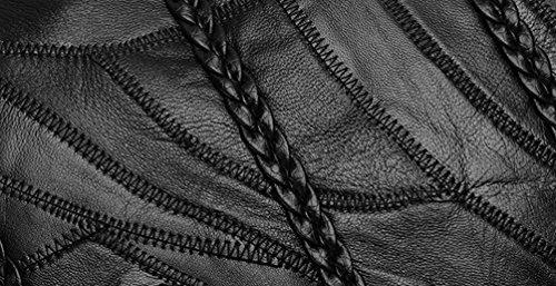 Sangle Sac Sacs D'épaule Bandoulière à à à à en Main Noir Patchwork YAANCUN Grande Main Cuir Sac avec Capacité Femmes Vintage Fn5YqqwU