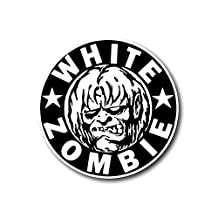 "White Zombie Sticker American Heavy Metal Band Decal for Car Window, Bumper, Laptop, Skateboard, Wall, ETC. (3"")"