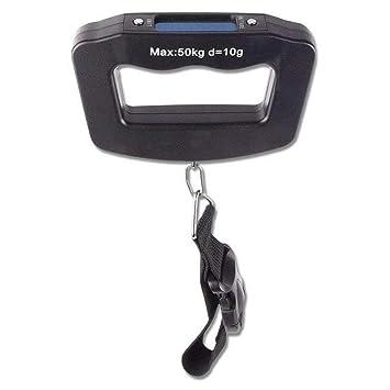 Febelle - Báscula Digital para Equipaje de Mano (hasta 50 kg), Color Negro: Amazon.es: Electrónica