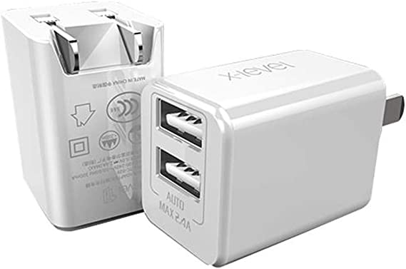2 Port Fast USB Wall Charger Foldable Plug for Apple iPhone XS Max XR 8 7 6 iPad