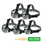 EverBrite 5-Pack LED Headlamp Flashli...