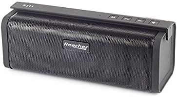 Altavoz Portátil Inalámbrico de Reacher,con radio FM, Banco de potencia, USB, micro SD, 3.5 aux