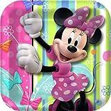 Minnie Mouse Party Plates – Minnie Square Paper Dessert Plates – 8 Count, Health Care Stuffs
