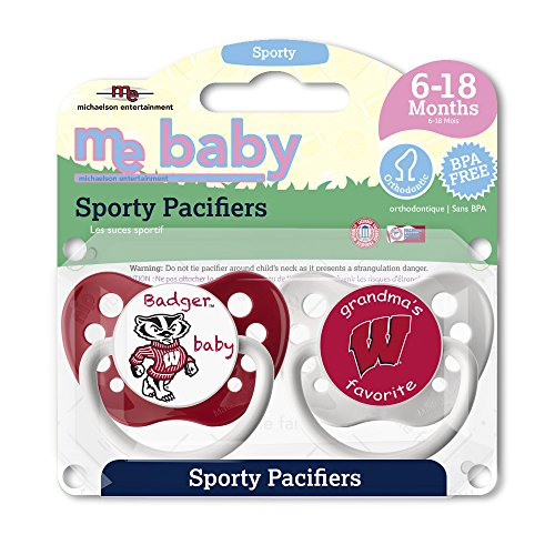 Michaelson Entertainment 2 Piece Pacifier, University of Wisconsin