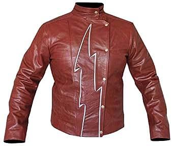 The Flash S2 Jay Garrick Teddy Sears Synthetic Leather Jacket (XX-Small)