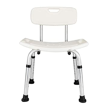 Amazon Com Bath Shower Chair With Back Support Aluminum