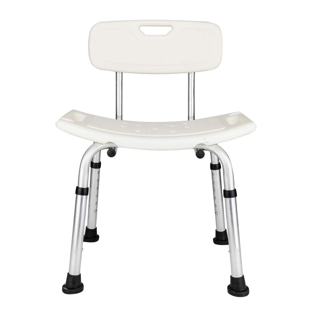 Adjustable Height Medical Transfer Bench Bathtub Chair Shower Seat for Handicap, Disabled, Seniors & Elderly, Aluminum Alloy