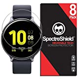 Spectre Shield (8 Pack) Screen Protector for Samsung Galaxy Watch Active 2 (44mm) Accessory Galaxy Watch Active2 (44mm) Case Friendly Full Coverage Clear Film