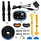 Dr.Tiger 2 Receiver Electric Dog Fence with Rechargeable Shock Collar, Wire...