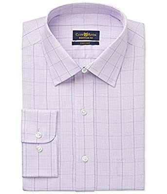 Club Room Mens Pinpoint Glen Plaid Regular Fit Dress Shirt