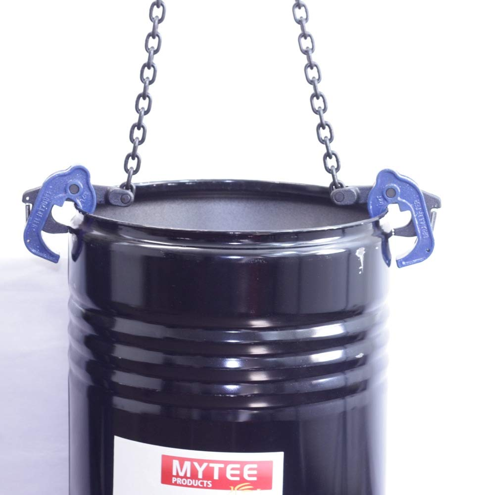 Mytee Products Chain Drum Lifter 2000 lbs WLL Lift Barrel Lifter Vertical Hoist Self Locking