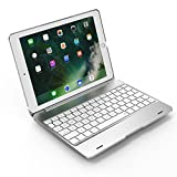 SODIAL Silver For Ipad Pro 9.7 Notebook Flip Cover Bluetooth Keyboard