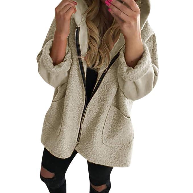 BBestseller Chaqueta de Felpa Sudadera con Capucha,Sweatshirt Cárdigan Casual De Punto Abrigo Hooded Outwear Zipper Pullover Blouse para Mujer: Amazon.es: ...
