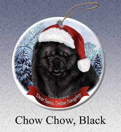 Define Naughty Black Chow Ornament