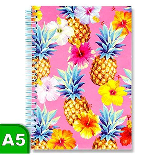 Premier I Love Stationery A5 160pg Spiral Wire Foiled Notebook - Pineapple Fun