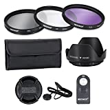 Neewer 52MM UV CPL FLD Filters and Accessory Kit and ML-L3 IR Wireless Remote Control for NIKON D7100 D7000 D5200 D5100 D5000 D3300 D3200 D3000 D90 D80 DSLR Cameras, Filter Pouch Lens Hood Included
