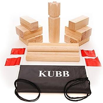 Amazon Com Koob The Viking Game Hardwood Kubb Game Set