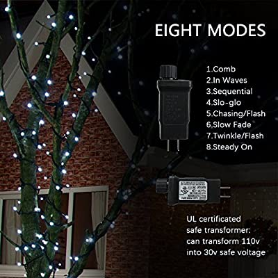String lights 115 Ft 300 LED Diamond Cutting Fairy Christmas Lights for indoor and outdoor, Home, Lawn, Garden, Wedding, Patio, Party and Holiday Decorations