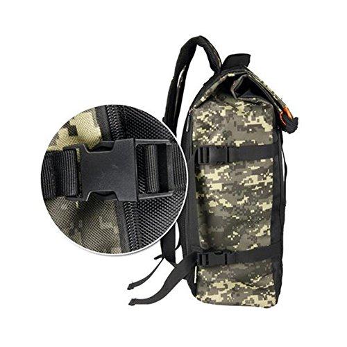 MUMA Daypacks Reisetasche Studententasche Computer Tasche Camouflage Rucksack Nachtfahrt Rucksack ( Farbe : Tarnung ) Tarnung knl5cE