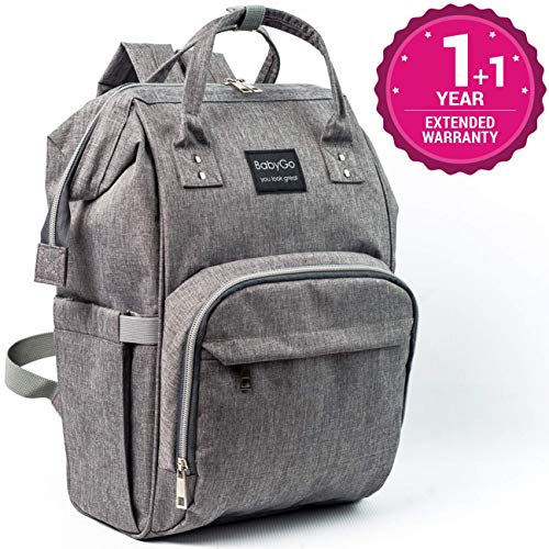 Diaper Bag – Newest 2019 – Waterproof Travel Backpack – Insulated Pockets – Large Capacity – Multifunction Durable Backpack – Baby Diaper Bag – Baby Care Bag – Stylish for Women Men Dad Girls Boys