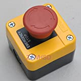 Waterproof Red Sign Emergency Stop Push Button Switch 660V 10A Normally Closed [Gold Sister]