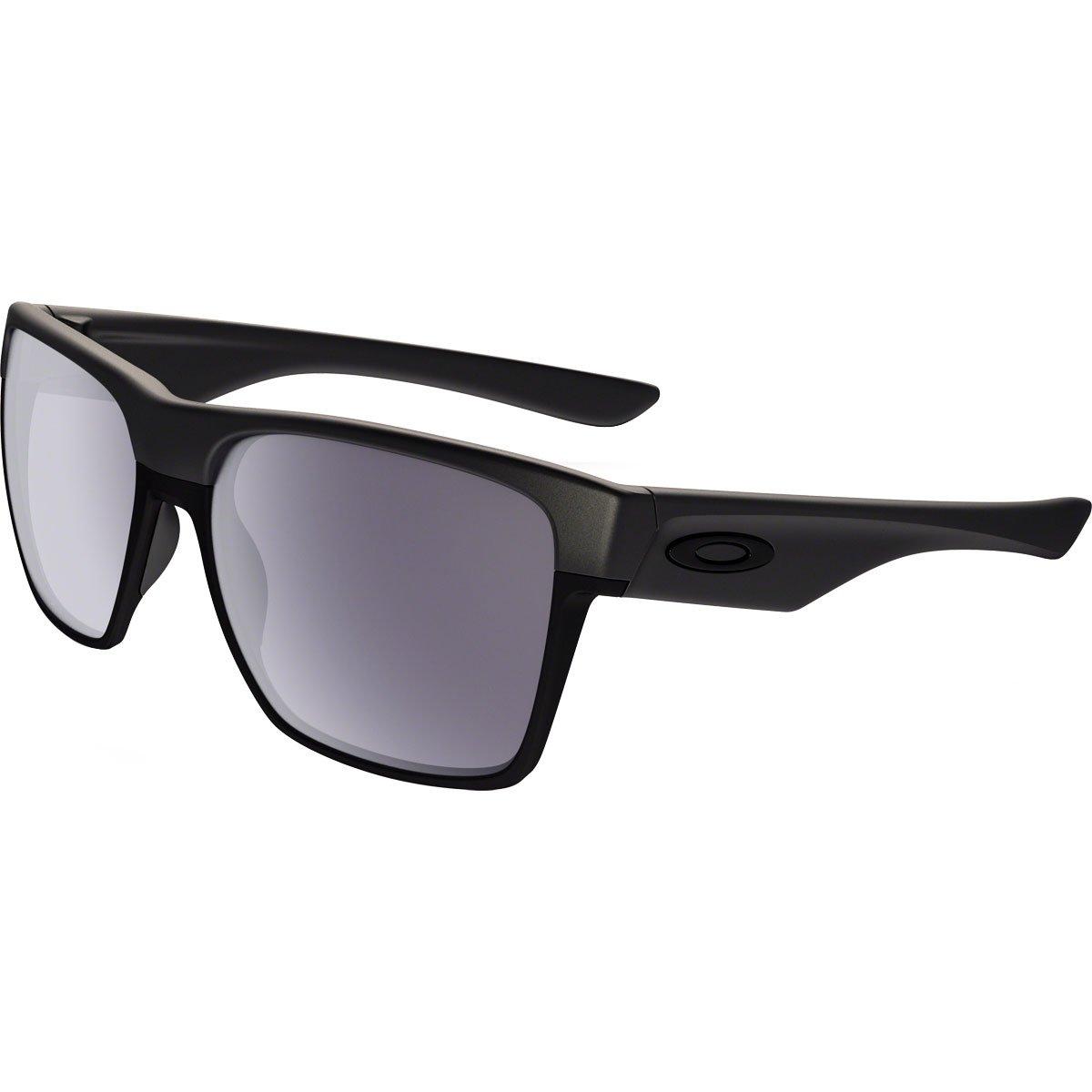 Oakley Men's OO9350 TwoFace XL Square Sunglasses, Steel/Grey, 59 mm by Oakley
