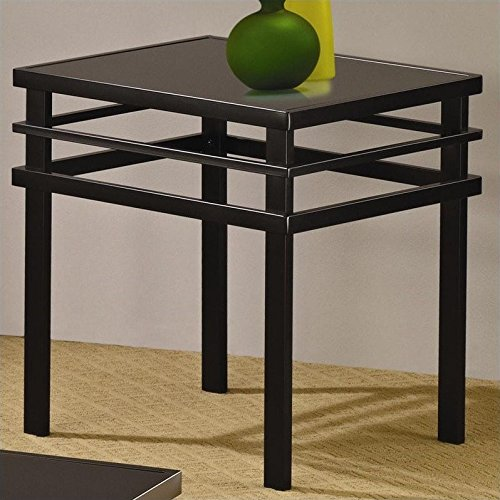 Coaster 3 Piece Occasional Table Sets Modern Coffee and End Table Set in Black by Coaster Home Furnishings (Image #2)
