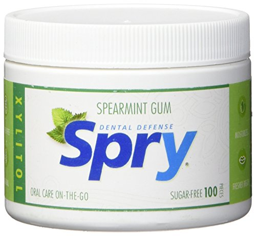 (Spry Xylitol Gum, Natural Spearmint,)