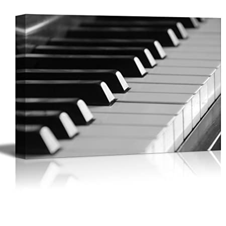 wall26 – Canvas Prints Wall Art – Closeup of Piano Keys Modern Wall Decor Home Decoration Stretched Gallery Canvas Wrap Giclee Print. Ready to Hang – 32 x 48