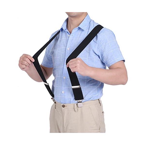 Fasker Mens Suspenders Bow Tie Set Y Shape Elastic Adjustable Braces Clip Suspender