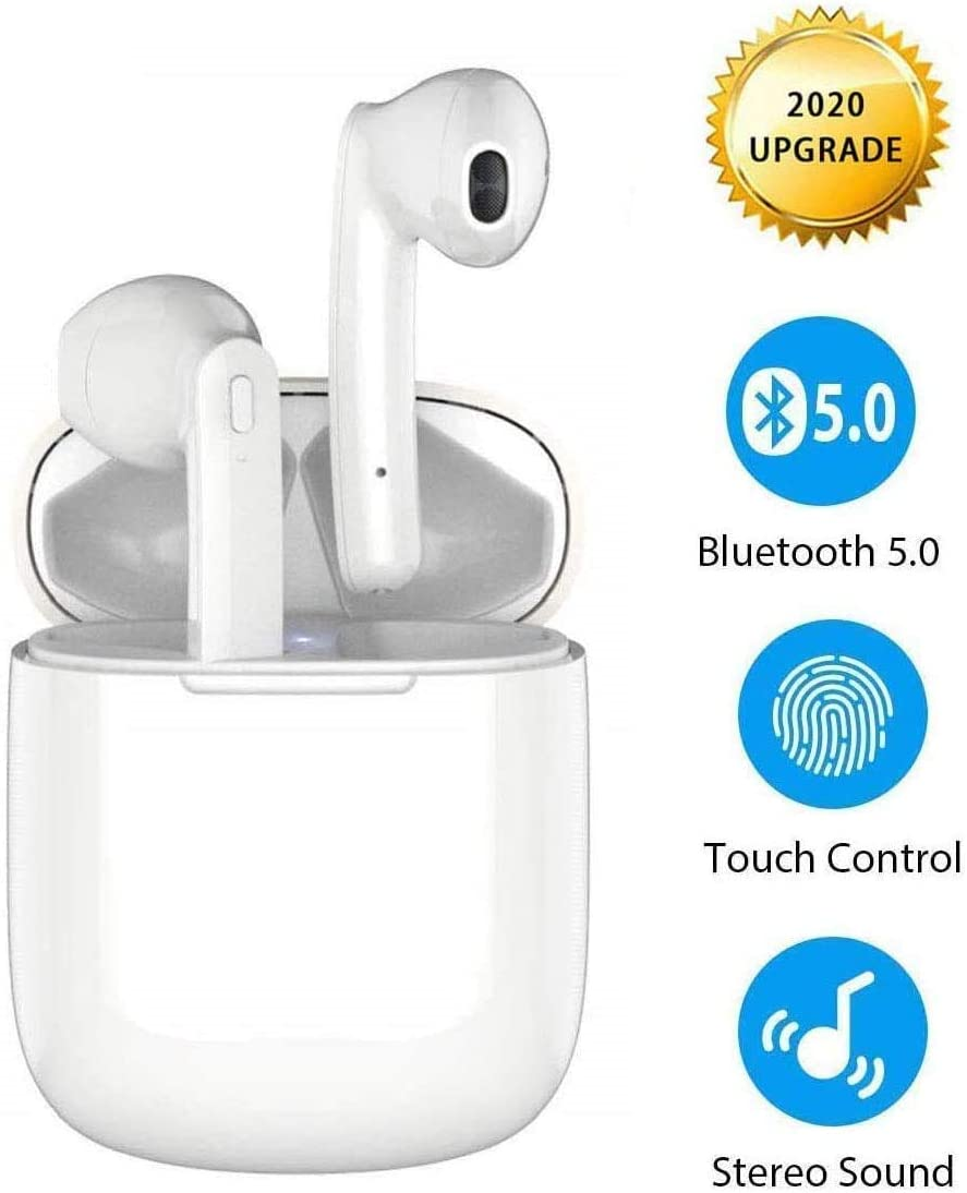 Bluetooth 5.0 Headsets [Left Goods], Mini Alrbp0ds Wireless Earbuds in-Ear Bluetooth Headphones,...