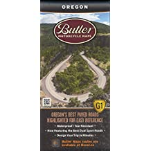 oregon motorcycle map by butler motorcycle maps 2015 11 08