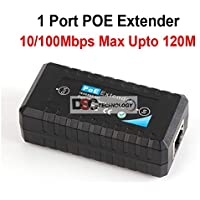 Power Over Ethernet Extender, Repeater, Signal Booster: Extend PoE Signal 330 feet, IEEE 802.3af, True Plug-&-Play, Auto Detects Devices, No Need For External Power Supply