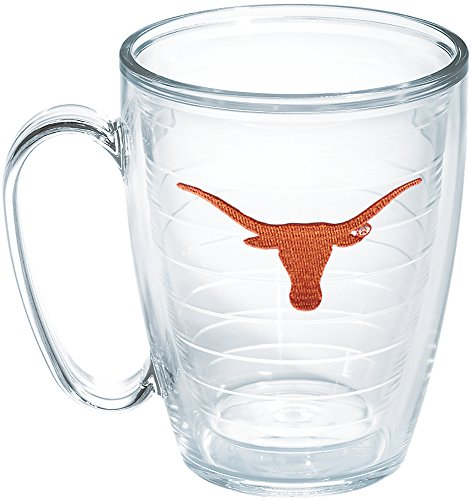 Texas Longhorns Mug - Tervis Texas University Longhorn Emblem Individual Mug, 16 oz, Clear - 1048879