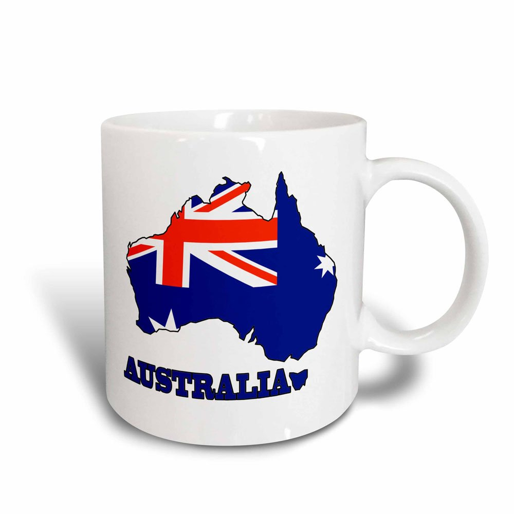 3dRose Flag of Australia, The Map and Name of The Country Australia, Magic Transforming Mug, 11-Oz