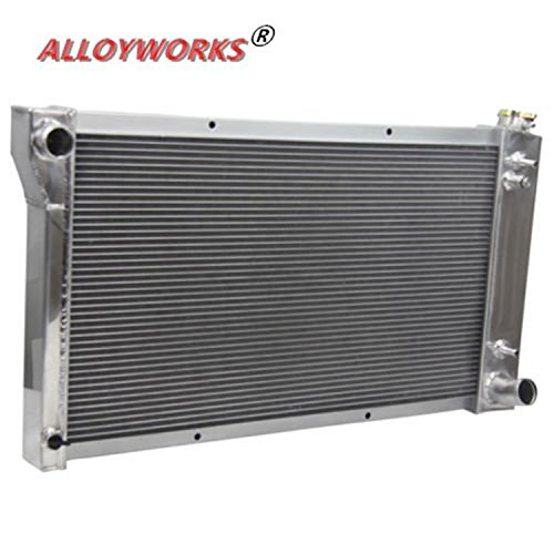 ALLOYWORKS 3 Row 3 Core Aluminum Radiator for 1967-1972 Chevy C/K Pickup Truck 10 20 30 Racing