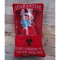 Elf Quarantine Envelope Christmas Shelf Sitter Humor Elf Mask Included Handmade Felt Embroidered