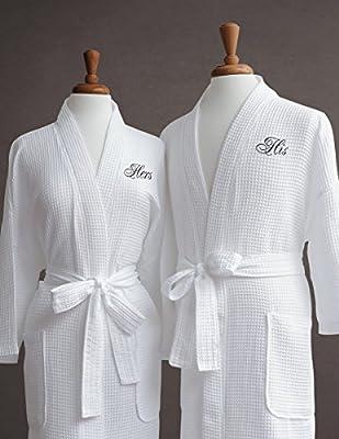 Luxor Linens Waffle Weave Spa Bathrobe - Ciragan Collection - Luxurious, Super Soft, Plush & Lightweight - 100% Egyptian Cotton