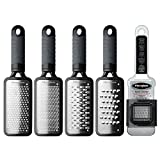 Microplane Home 2.0 Series Stainless Steel 5pc Grater Gift Set - Black