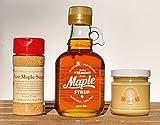 Green Mountain Goodness Pure Vermont Maple Cream, Sugar, Syrup (Mini Sampler)