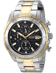 GUESS Mens Stainless Steel Two-Toned Casual Watch, Color Silver/Gold (Model: U0746G3)