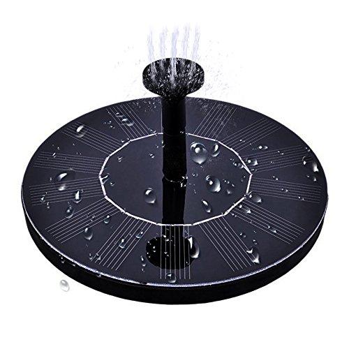 - maxin Solar Bird Bath Fountain, Free Standing 1.4W Solar Panel Kit Water Pump, Outdoor Watering Submersible Pump for Bird Bath,Fish Tank,Small Pond, Garden Decoration