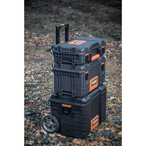 RIDGID 54338 Caja de herramientas organizadora profesional Caja manual de herramientas para uso con la Caja de herramientas mediana profesional y Carro de herramientas m/óvil RIDGID