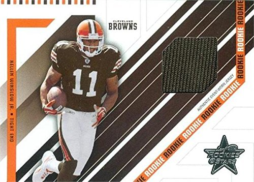 - Kellen Winslow Jr. player worn jersey patch football card (Cleveland Browns) 2004 Leaf Rookies & Stars #261 LE 345/750